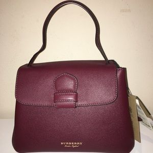 Burberry House Check Camberley Mahogany Red Bag